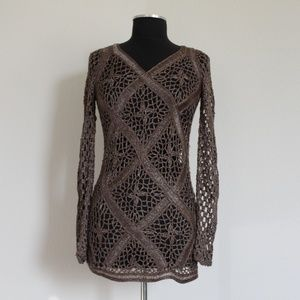 Other - HAND-WOVEN BLOUSE, BROWN, SIZE L/M